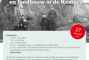 Lezing 1000 jaar landschap en landbouw in de Kempen