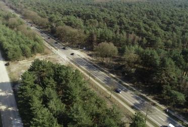 Beveiligde oversteekplaatsen voor wild op de Kamperbaan (N73) in Bosland