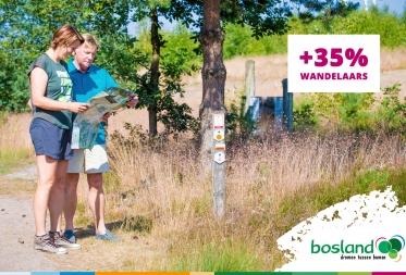 Stijging van 35% wandelaars in Bosland tijdens lockdown light