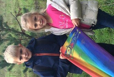 Lucas en Emma Przytula